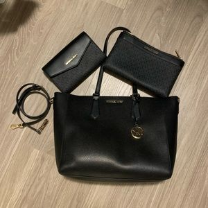 Michael Kors 3-in-1 Kimberly Leather Tote Set